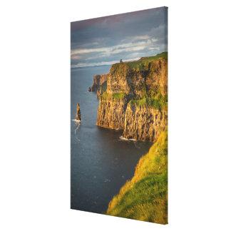 Toile Littoral de l'Irlande au coucher du soleil