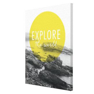 Toile L'océan   explorent la citation du monde