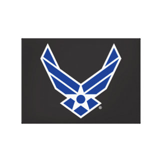 Toile Logo d'armée de l'air des États-Unis - Bleu
