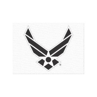 Toile Logo d'armée de l'air des États-Unis - Noir
