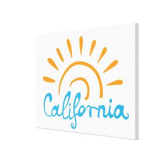 Toile Logo ensoleillé de la Californie