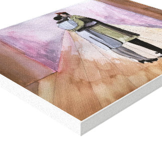 Toile Longtemps au revoir - aquarelle, copie enveloppée