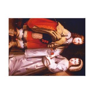 Toile Louis XIV enfant et son frère60.96x45.72cm, 3.81cm