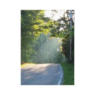 Toile Lumière du soleil par les arbres