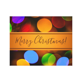 Toile Lumières de Noël multicolores. Ajoutez le texte ou