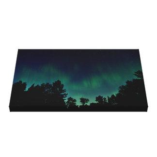 Toile Lumières du nord - photo de ciel nocturne de