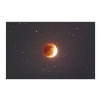 Toile Lune de sang d'éclipse lunaire