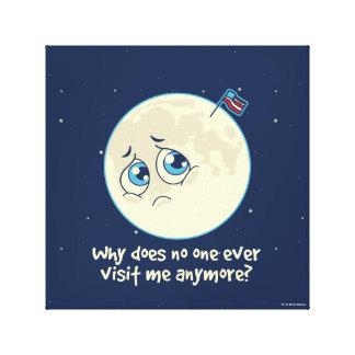 Toile Lune triste