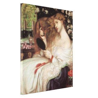 Toile Madame Lilith par Rossetti, Portait victorien