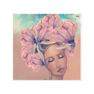 Toile Madame Magnolia dans Coloure