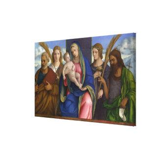 Toile Madonna et enfant avec des saints