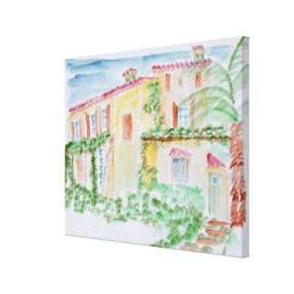 Toile Maison française | d'aquarelle au sud de la France