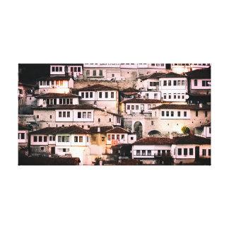 Toile Maisons de tabouret de Berati Albanie