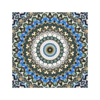 Toile Mandala coloré fleuri
