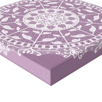 Toile Mandala de glycines