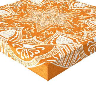 Toile Mandala de tarte de citrouille
