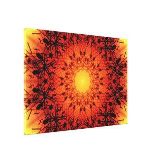 Toile Mandala musical vibrant