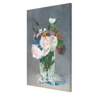 Toile Manet | fleurit dans un vase en cristal, c.1882