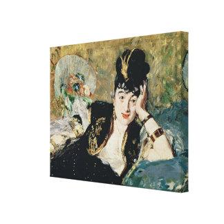 Toile Manet | Madame avec des fans