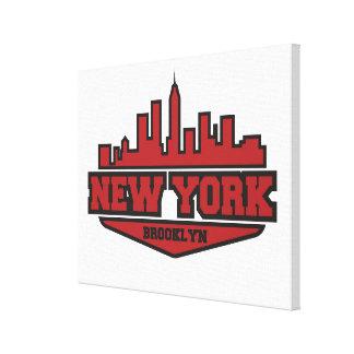 Toile Manuscrit de style de bloc de Brooklyn New York |