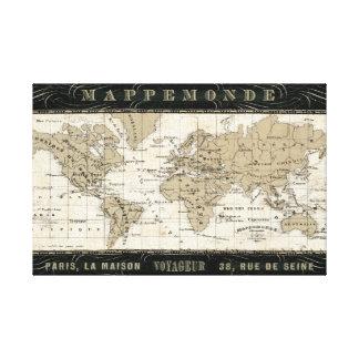 Toile Mappemonde