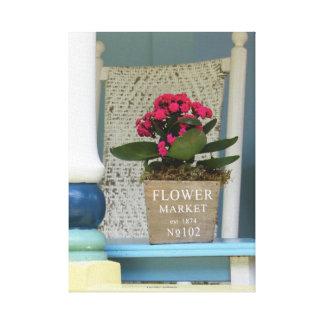 Toile Marché de fleur - porche de cottage de Martha's