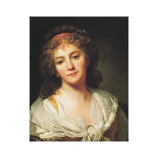 Toile Marie-Geneviève Bouliard, autoportrait