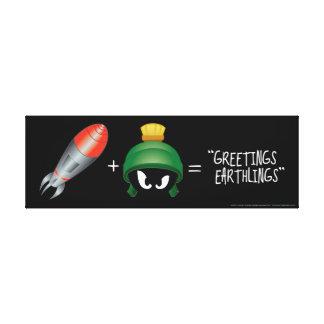 Toile MARVIN l'équation de MARTIAN™ Emoji