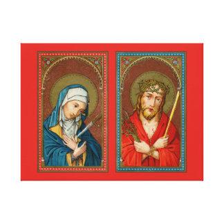 Toile Mary, mère Dolorosa et Jésus, ecce homo