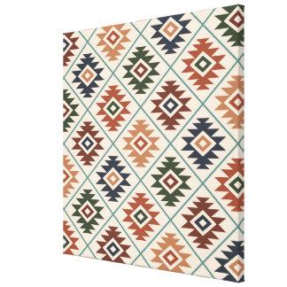 Toile Mélange de couleur de motif stylisé par symbole