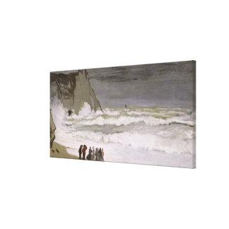 Toile Mer agitée de Claude Monet | chez Etretat, 1868-69