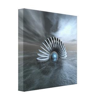 Toile Mer congelée surréaliste