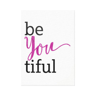 Toile message inspiré beYOUtiful
