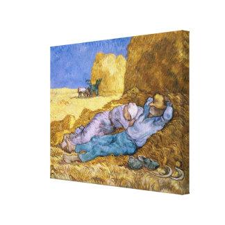 Toile Midi de Vincent van Gogh  , la sièste, après