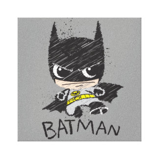 Toile Mini croquis classique de Batman