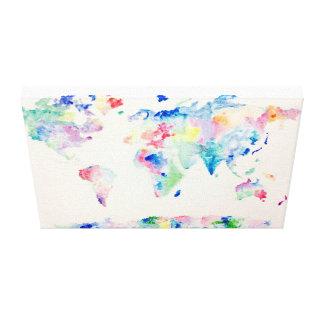 Toile Monde de couleur d'eau
