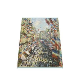 Toile Monet 1878 la rue Montorgueil à Paris