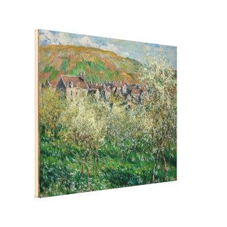 Toile Monet vintage 1879 pruniers fleurissants