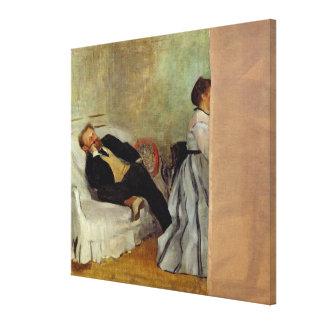 Toile Monsieur et Madame Edouard Manet d'Edgar Degas |
