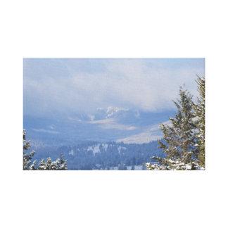 Toile Montagne brumeuse