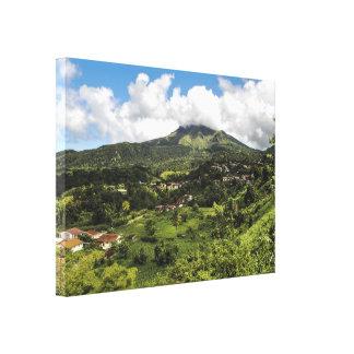 Toile Montagne Pelée de la Martinique