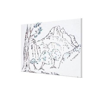 Toile Montagne Sainte-Victoire | au sud de la France