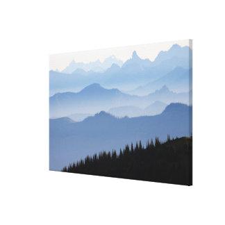 Toile Montagnes de cascade du parc national de mont