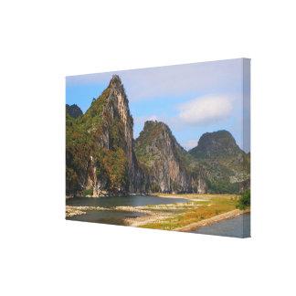 Toile Montagnes le long de rivière de Li, Chine