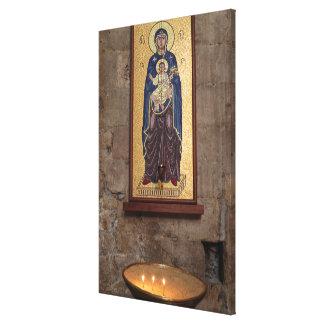 Toile Mosaïque de Mary et de Jésus