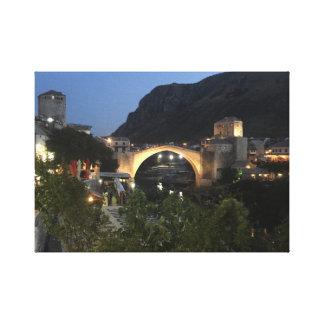 Toile Mostar par nuit