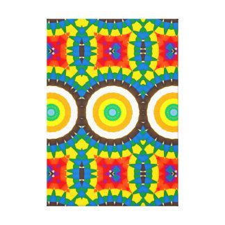 Toile Motif coloré de point de kaléidoscope