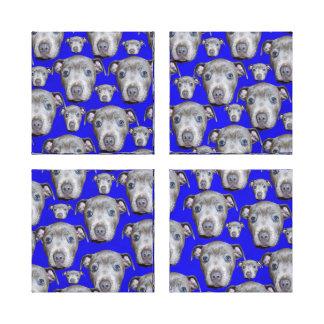 Toile Motif de chiot de bull-terrier du Staffordshire,
