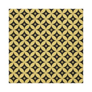 Toile Motif de pois élégant de cercle de noir et d'or