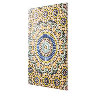 Toile Motif géométrique de tuile, Maroc
